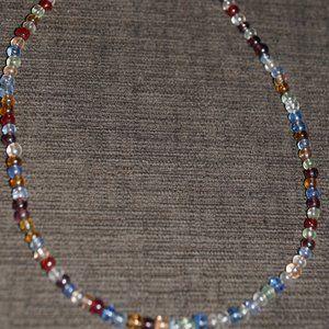 "Multi colored glass beaded 16"" strand"